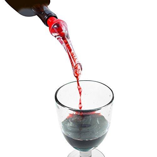 Bottom-ports (Belüften Wein Ausgießer von Bottoms Up, rot, weiß und schwarz erhältlich rot)