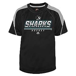 NHL San Jose Sharks Big & Tall Team Synth Hoodie, X-Large, Black/Grey/White