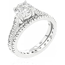 ISADY - Azénie - Anillo Mujer - Duo Solitaire + Alliance - Circonita