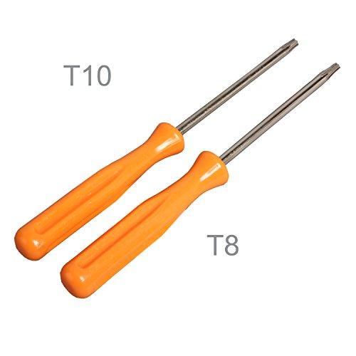 Preisvergleich Produktbild Timorn Mini Slim T8,T10 Torx-Schraubendreher für Sony Playstation 3 PS3 XBOX360 xbox ein Konsolen (T8+T10)