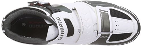 Shimano E-SHM089W, Unisex-Erwachsene Radsportschuhe - Mountainbike Weiß (White)