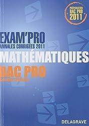 Exam'Pro Mathématiques Bar pro Secteur tertiaire : Annales corrigées 2011