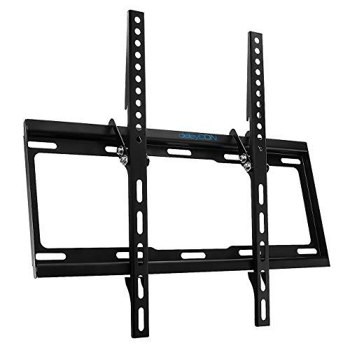 "deleyCON Universal TV Wandhalterung - 32\"" - 55\"" Zoll (81-140cm) - bis 14° Neigbar - Belastbar bis 35Kg - bis VESA 400x400mm - Wandabstand 25mm - TV LCD LED OLED"