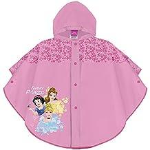 c9f7f53dd PERLETTI Poncho Impermeable Princesas Disney - Chubasquero de Lluvia Niña  Walt Disney Cenicienta Belle Blancanieves -