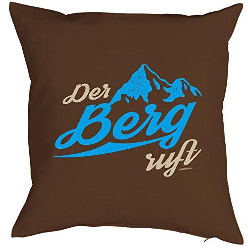 Berge Deko Kissen Der Berg ruft! Alpen Gipfel - kuscheliges Präsent