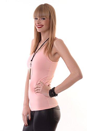 AE - Chemisier - Uni - Femme Rose - Lachs