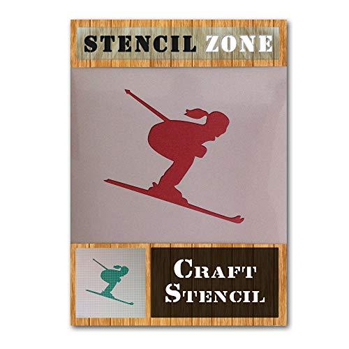 Schnee Skifahren Sport Winter Spiel Mylar Airbrush Painting Wall Art Crafts Stencil 3-M (And Winter Arts Crafts)