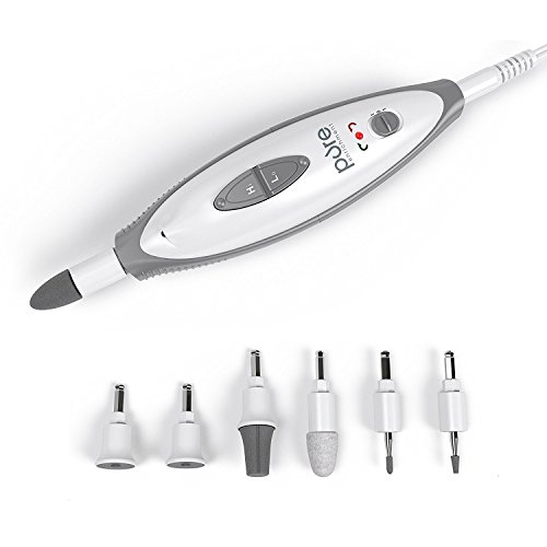 PureNails 7-piece Professional Manicure & Pedicure System - Powerful Electric Nail Drill for Salon-quality Grooming of Hands & Feet At Home by Pure Enrichment -