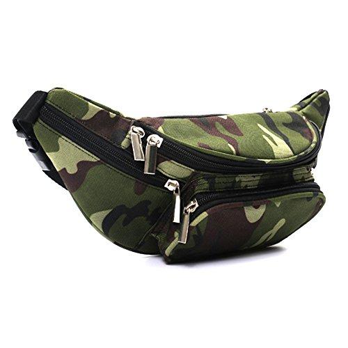 Cosanter Multifunktionale Sporttasche Camo Sport Hüfttasche Bauchtasche Gürteltasche mit Reißverschluss für Wandern Jagen Paddeln Angeln Bushcraft