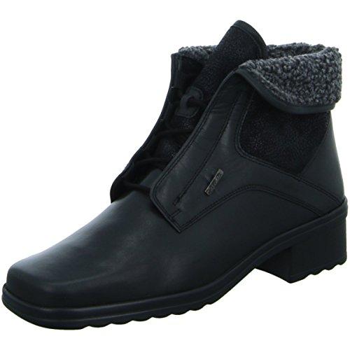 Gabor Comfort Basic Stiefeletten in Übergrößen Schwarz 96.705.57 große Damenschuhe, Größe:44