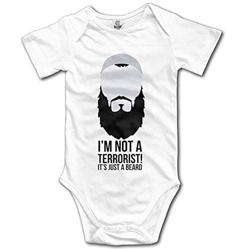 Climbing Clothes Set It's Just A Beard Bodysuits Romper Short Sleeved Light Onesies for 0-24 Months ()