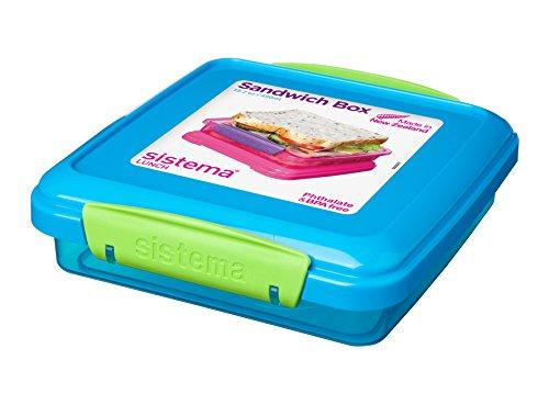 Sistema Sandwichbox für unterwegs, 432ml, plastik, 15.5 x 15 x 4.3 cm (Farblich Sortiert)