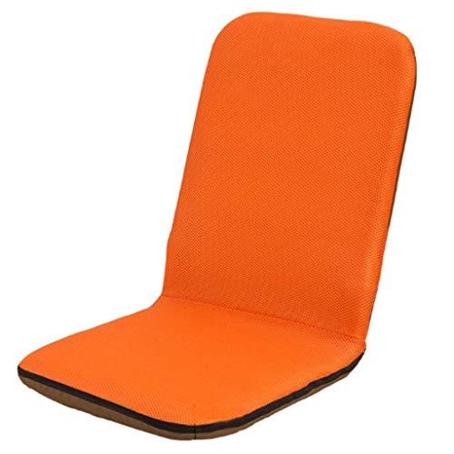 LMCLJJ Gepolsterter Stuhl mit Verstellbarer Rückenlehne und Kopfstütze Klappbarer Lehnstuhl Verstellbarer Griff Sitz auf dem Boden Sofa Stuhl zum Lesen Fernsehen Meditieren oder Spielen