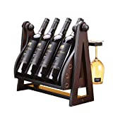 Mobeka Cocktail-Sets Weinregal Holz Wein Home Hanging Display Stand (größe : 46×25×30cm)