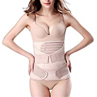 3 in 1 Postpartum Girdle Support Recovery Belly Band Corset Wrap Body Shaper for After Birth Postnatal C-Section Waist Pelvis Shapewear Wrap Girdle Support Band Belt Body Shaper (M)
