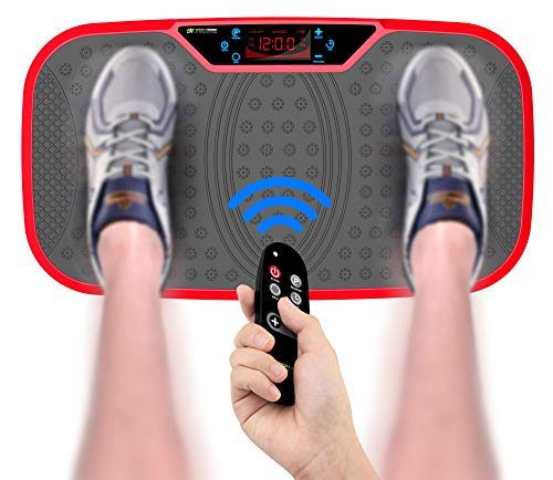 SportTronic Profi Vibrationsplatte 3D Wipp Vibrations Technologie, XXL Fläche: 68 x 38 cm, inkl. Trainingsbänder & Fernbedienung