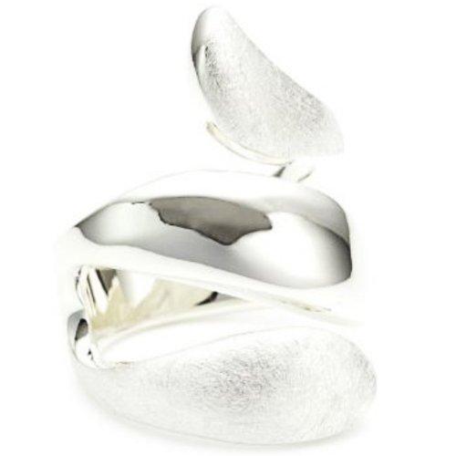 Vinani Ring Schlange gedreht glänzend gebürstet Sterling Silber 925 Größe 52 (16.6) RSG52