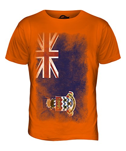 CandyMix Cayman Islands Verblichen Flagge Herren T Shirt Orange