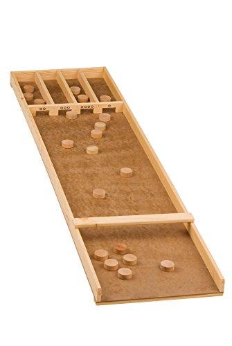 Lifetime Games 86057 - Holzbrettspiel Inklusive 20 Scheiben, - Sjoelbak Shuffleboard