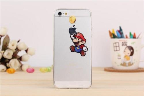 Neuf Disney Cartoons Coque TPU souple transparente pour Apple iPhone 7et 7Plus, plastique, Olaf, Apple iPhone 7 Mario