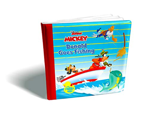 Disney Bath Time Bubble Book-Donald Duck Goes Fishing with Mickey Mouse and Goofy - Disney Bubble Bath