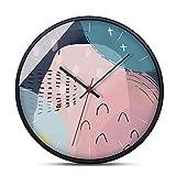 DCDC 12-inch surdimensionné Horloge Murale, Non-coutil et silencieusement décoré Cuisine intérieure Salle de séjour Ronde rétro Horloge, AA Batterie alimenté Horloge
