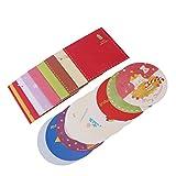 Tinksky Las tarjetas de felicitación de la Feliz Navidad 10pcs y los sobres 10 fuentes del partido de Navidad de los diseños invitan el regalo de cumpleaños de la Navidad para los amigos