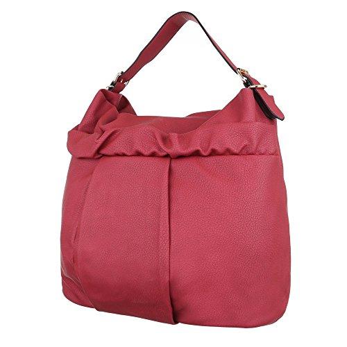 Damen Tasche, Schultertasche, Große Handtasche, Kunstleder, TA-J825 Rot