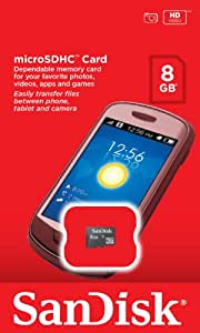 SanDisk 8GB Micro SD SDHC Memory Card for Nokia C2-01