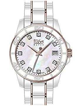 B360 WATCH Unisex-Armbanduhr Medium Analog Quarz verschiedene Materialien B CLASS ONE LW WHITE IPRG