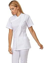 Chef chaqueta de manga corta para mujer–Jess por Siggi Beuty
