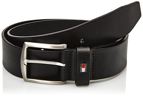 Tommy Hilfiger - NEW DENTON BELT, Cintura da uomo, Nero (Black), Taglia produttore:  110 cm