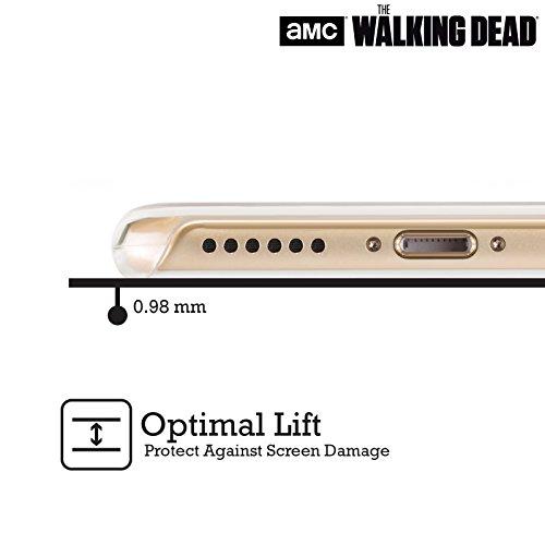 Ufficiale AMC The Walking Dead Dead Inside Tipografia Cover Retro Rigida per Apple iPhone 4 / 4S Sopravvivenza Rick Machete