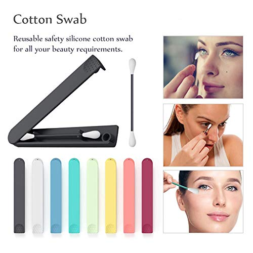 Silikon Wattestäbchen,Kreative umweltfreundliche Kosmetik s Lippenstift Gloss Zauberstäbe Applikator Make-up Tool Reinigungswerkzeug,2,76 Zoll, zufällige Farbe -