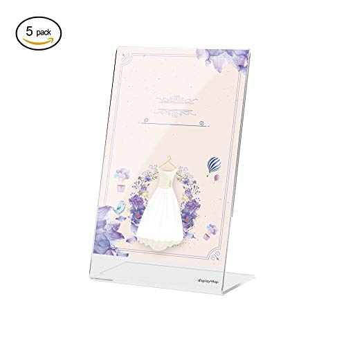 Display4top a4 acrilico poster menu holder, espositore, confezione da 5