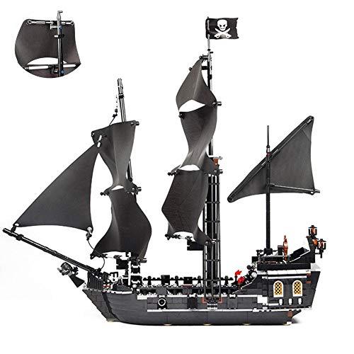 Colinsa 804 Blocks Piratenschiff Modellbausatz Schiff - Black Pearl Galeby Montage und Installation Intelligentes Plastikmodellbausatz