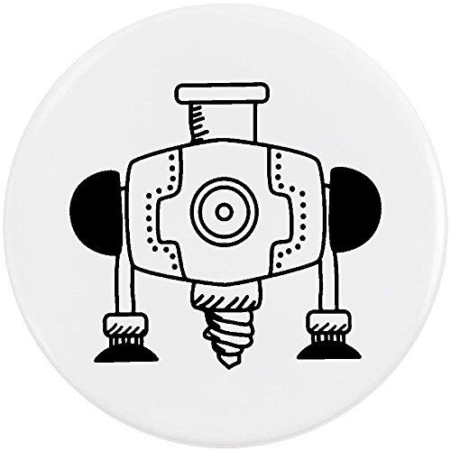 Azeeda 58mm 'Industriebohrer' Pin Knopf-Abzeichen (BB00045020)