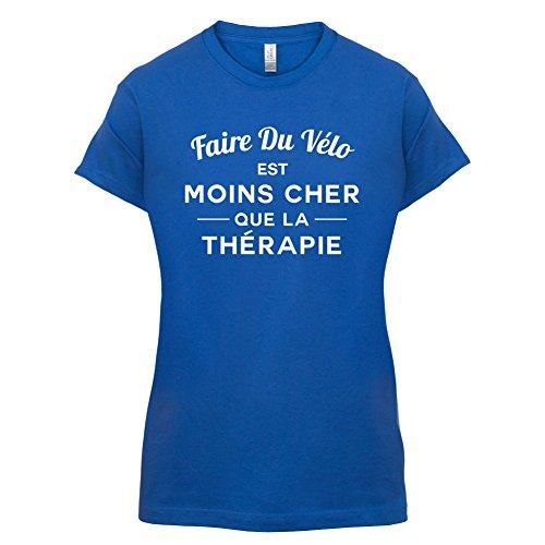 Faire du vélo est moins cher que la thérapie - Femme T-Shirt - 14 couleur Bleu Royal