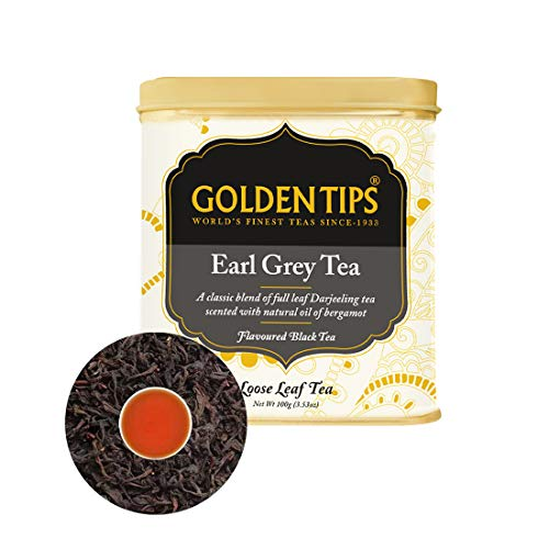 Golden Tips Earl Grey Black Tea |100% Natural Whole Leaf Tea | Black Tea for Weight Loss | Stress Relief | Cold Relief | No Additives 100gm, 50cups