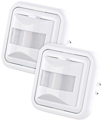 revolt Bewegungsschalter: 2er-Set Automatische Lichtschalter mit PIR-Bewegungsmelder (Lichtsensor)