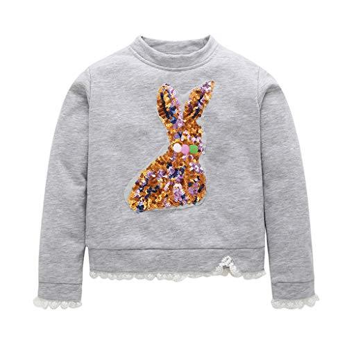 DIASTR Baby Tops Mädchen Jungen T-Shirt Blusen Langarm Shirts Oberteile Winter Kaninchen Karikatur Sweatshirt Pullover T-Shirt Kleidung