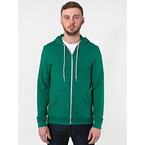 american-apparel-unisex-tri-blend-full-zip-terry-hoodie-l-tri-vintage-green