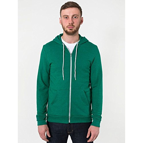 american-apparel-sweatshirt-a-capuche-et-fermeture-zippee-homme-xl-vert
