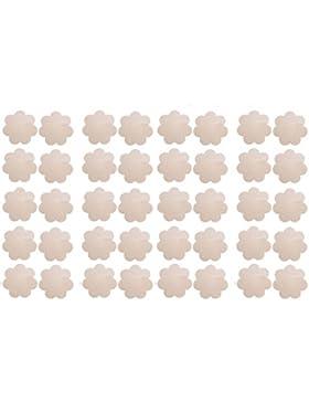 WODISON Pasties Womens Nipple Covers Adhesive PetalsDisposable Stain Flower Shape (20 Pairs)