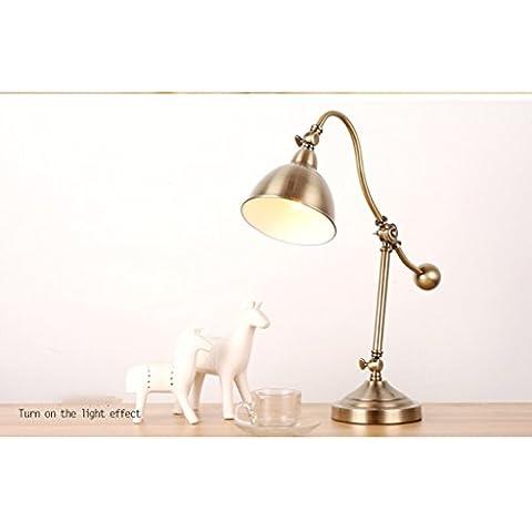 Lampada da tavolo Eye americano Lampada da tavolo Camera di lusso Lampada da comodino apprendimento biblioteca rustico in ferro battuto d'epoca