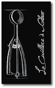 Tableau contemporain cuisine d'ustensiles : la cuillère à glace