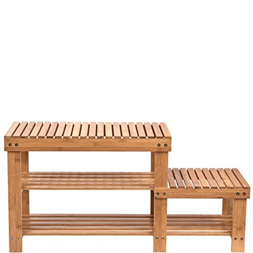 Bereich Regal (BUTLERS BIG BAMBOO Regal mit 2 Ebenen- - fürs Bad - Bambus - 89 x 28 x 44 cm)