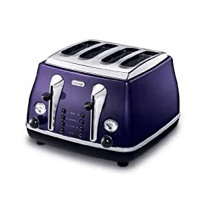 delonghi cto4003 v toaster 4 schlitze violett. Black Bedroom Furniture Sets. Home Design Ideas