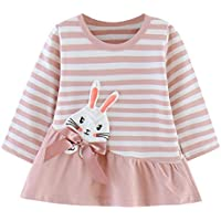 ZHMEI Camiseta Térmica Niños | Niños pequeños Bebés Niñas Dibujos Animados Corazón Imprimir Tops Princesa Trajes de Vestir 0-4 años