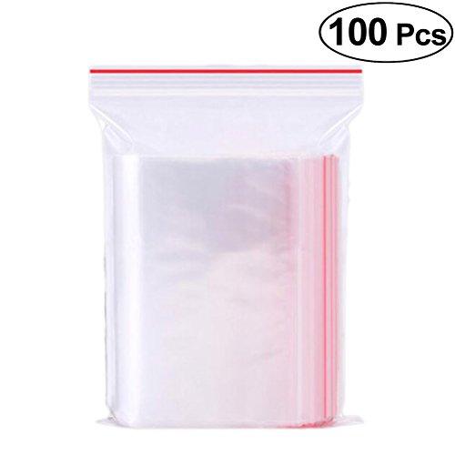 Vosarea Plastiktüten mit Verschluss wiederverschließbar Geschenktüten Celofan Gut für Brotkerzen Seife Cookie 7x10 cm 100 Stück